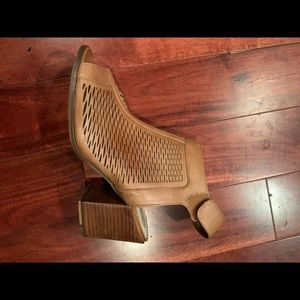 Vince Camuto open toe booties, size 7.5